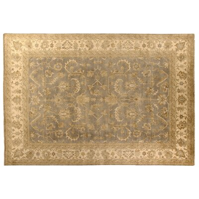 Oushak Hand-Knotted Wool Ivory Area Rug Rug Size: Rectangle 12 x 15