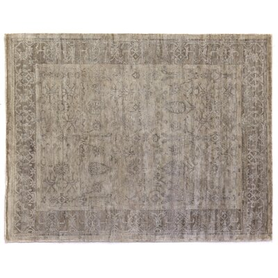 Hand-Knotted Beige Area Rug Rug Size: Rectangle 14 x 18