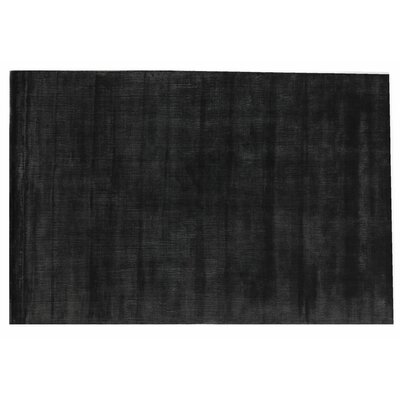 Smart Gem Hand-Woven Wool Black Area Rug Rug Size: Rectangle 15 x 20