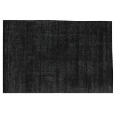 Smart Gem Hand-Woven Wool Black Area Rug Rug Size: Rectangle 15 x 20