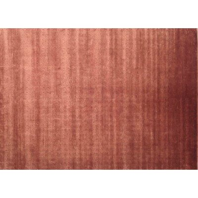 Greek Key Hand Knotted Wool Ruby Area Rug Rug Size: Rectangle 8 x 10