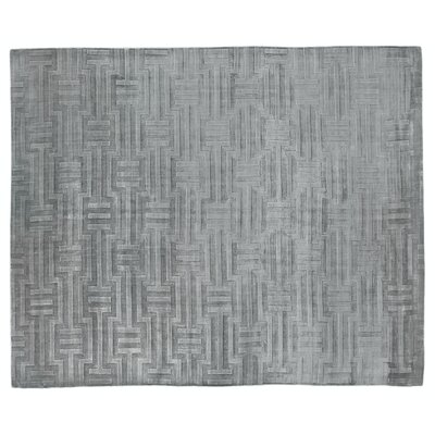 Smooch Carved Hand-Woven Silk Gray Area Rug Rug Size: Rectangle 12 x 15