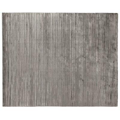 Wave Silk Dark Gray Area Rug Rug Size: Rectangle 14 x 18