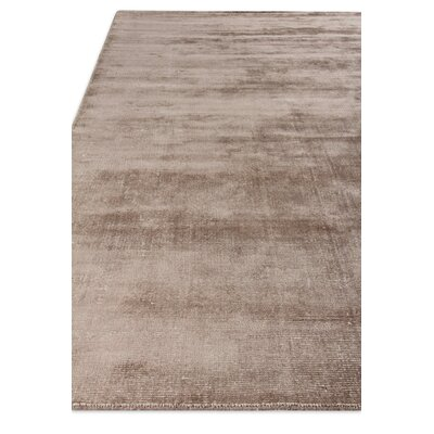 Duo Hand Woven Wool/Silk Brown Area Rug Rug Size: Rectangle 8 x 10