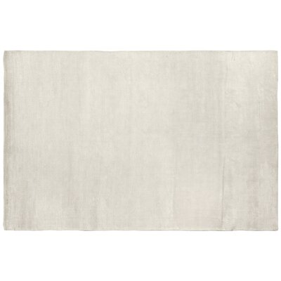 Dove Courduroy Hand-Woven Silk Beige Area Rug Rug Size: Rectangle 5 x 8