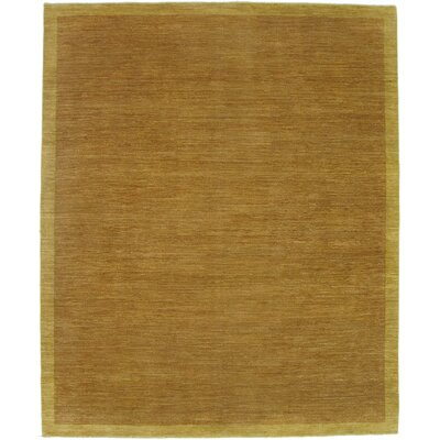 Buckingham Hand-Knotted Wool Rust/Beige Area Rug Rug Size: Rectangle 9 x 12