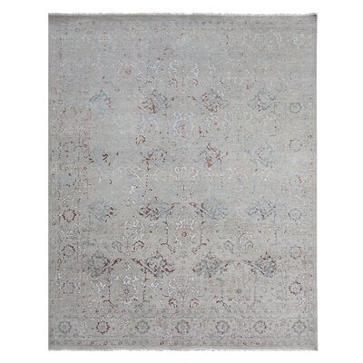 Beverly Hand-Knotted Ivory Area Rug Rug Size: Rectangle 8 x 10