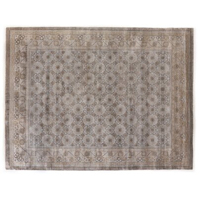 Fine Khotan Hand-Knotted Wool Brown/Gold Area Rug