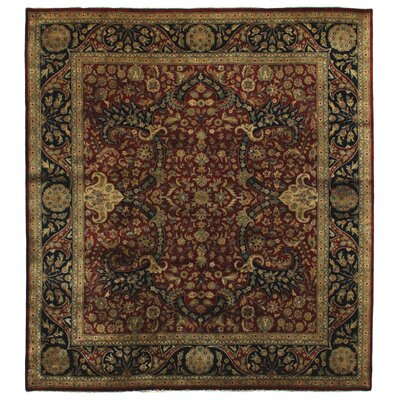 Kashan Hand-Knotted Wool Red/Blue Area Rug Rug Size: Rectangle 10 x 14