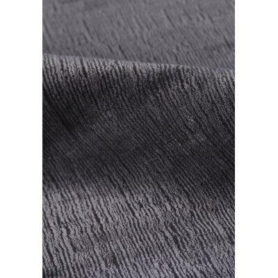 Gem New Zealand Hand-Woven Wool/Silk Black Area Rug