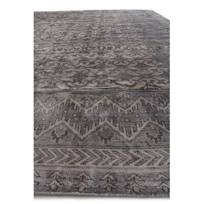 Antique Hand-Knotted Silk Ivory/Silver Area Rug Rug Size: Rectangle 8 x 10