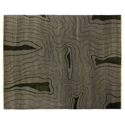 Super Tibetan Hand Knotted Wool/Silk Green Area Rug