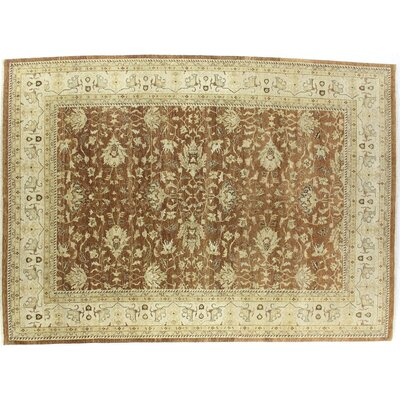 Ziegler Hand-Knotted Wool Beige/Red Area Rug Rug Size: Rectangle 4 x 6