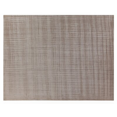 Robin Hand-Loomed Wool/Silk Beige Area Rug Rug Size: Rectangle 14 x 18