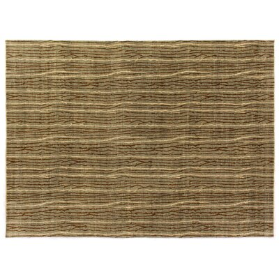 Metropolitan Hand-Knotted Wool Beige/Brown Area Rug Rug Size: Rectangle 9 x 10