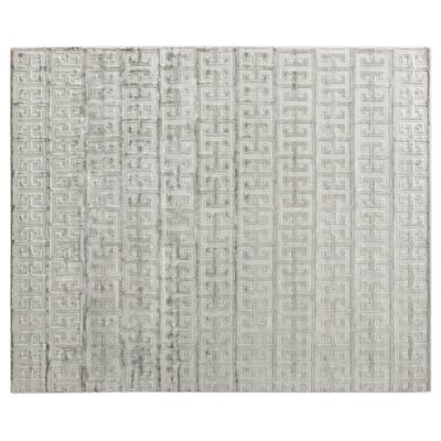 Kingsley Hand Loomed Silver Area Rug Rug Size: Rectangle 8 x 10