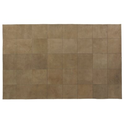 Suede Hand Woven Camel Area Rug