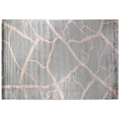 Metro Hand-Knotted Light Gray/Beige Area Rug