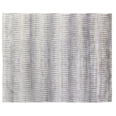 Hand-Knotted Silk Gray Area Rug
