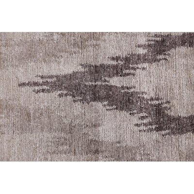 Hand-Knotted Silk Light Silver Area Rug