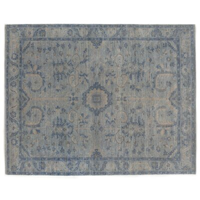 Serapi Hand-Knotted Wool Gray/Blue Area Rug
