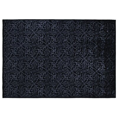 Super Tibetan Hand-Knotted Navy Area Rug