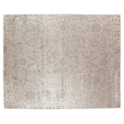 Hand-Woven Carrera Silk Gray/Ivory Area Rug Rug Size: Rectangle 9 x 12