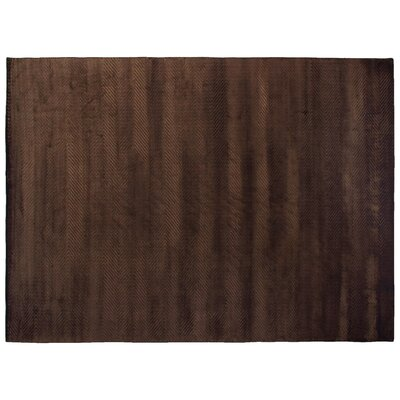 Herringbone Silk Chocolate Area Rug