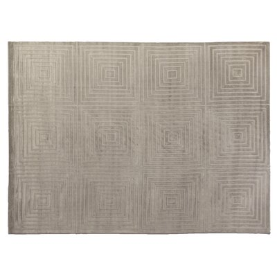 Embossed Hand Woven Silk Silver Area Rug Rug Size: Rectangle 12 x 15