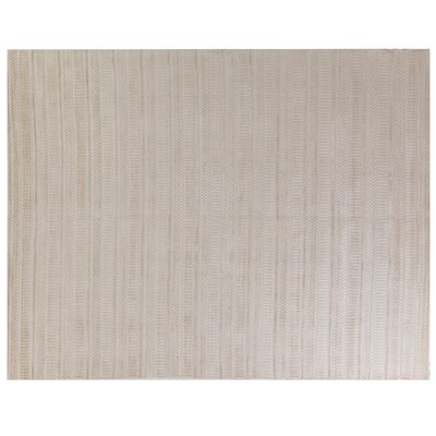 Addison Hand-Woven Beige Area Rug Rug Size: Rectangle 14 x 18