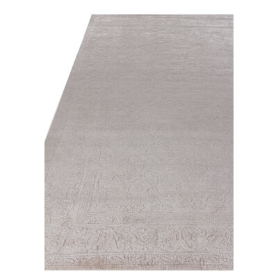 Iris Hand Knotted Silk Light Beige Area Rug