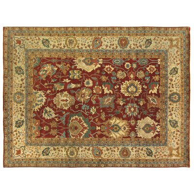 Fine Serapi Hand-Knotted Wool Red/Light Brown Area Rug Rug Size: Rectangle 8 x 10
