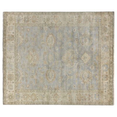 Oushak Hand-Knotted Wool Gray/Ivory Area Rug Rug Size: Rectangle�9 x 12