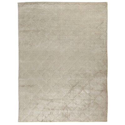 Smooch Carved Hand-Woven Silver Area Rug Rug Size: Rectangle�14 x 18