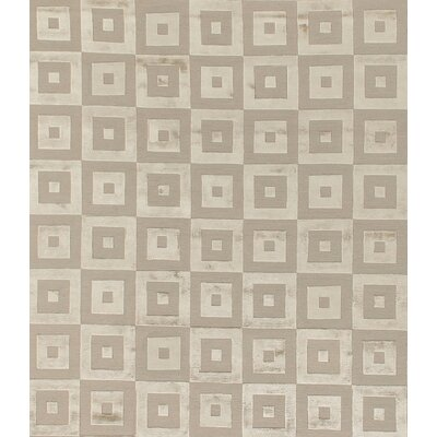Hand-Knotted Wool/Silk Beige/Brown Area Rug