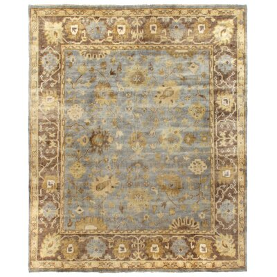 Oushak Hand-Knotted Wool Gray/Brown Area Rug Rug Size: Rectangle 14 x 18