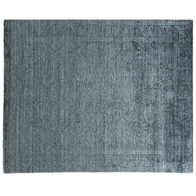 Iris Hand Knotted Silk Blue Area Rug