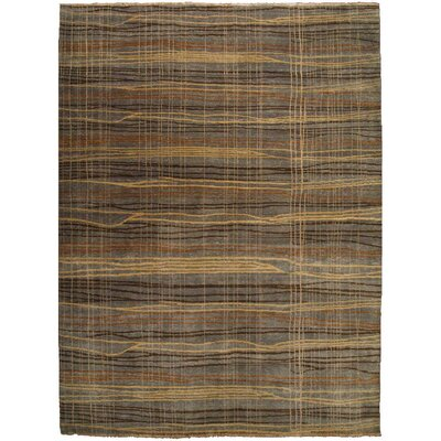 Metropolitan Hand-Knotted Wool Brown Area Rug