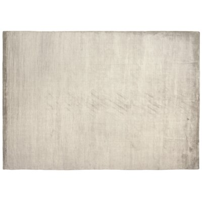 Dove Courduroy Hand-Woven Silk Beige Area Rug