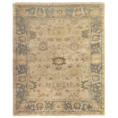 Oushak Hand-Knotted Wool Beige/Gray Area Rug