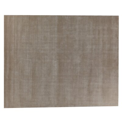Smart Gem Hand-Woven Wool Brown Area Rug Rug Size: Rectangle 14 x 18