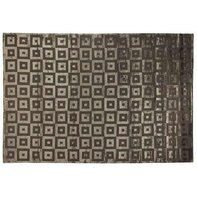 Metro Hand Woven Silk Khaki Area Rug Rug Size: Rectangle 9 x 12