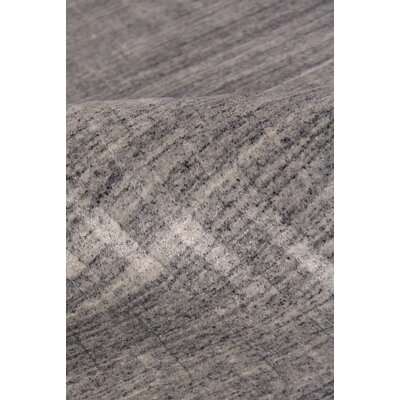 Robin Hand-Loomed Wool/Silk Dark Gray Area Rug Rug Size: Rectangle 8 x 10