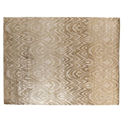 Carrera Hand Woven Silk Gold/Beige Area Rug Rug Size: Rectangle 9 x 12