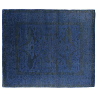 Overdyed Hand-Woven Wool Blue/Black Area Rug Rug Size: Rectangle 6 x 9