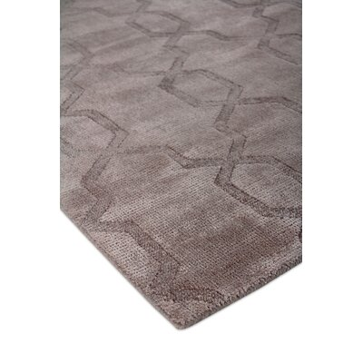 Samara Hand-Woven Silk Brown Area Rug