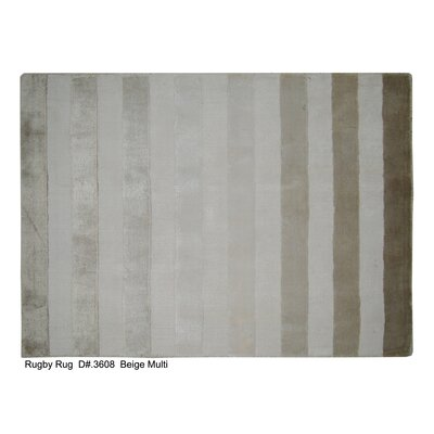 Rugby Tunnel Hand-Woven Beige Area Rug Rug Size: 10 x 14