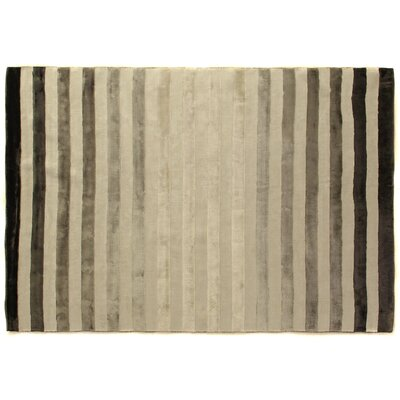 Rugby Tunnel Hand-Woven Gray/Ivory Area Rug Rug Size: 12 x 15