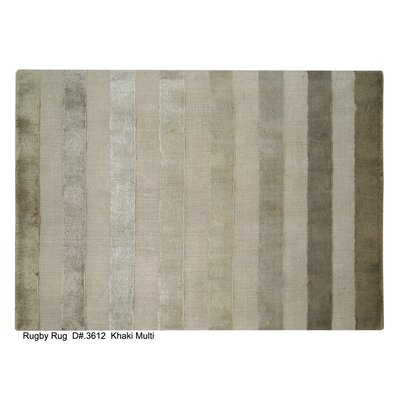 Rugby Tunnel Hand-Woven Khaki Area Rug Rug Size: 10 x 14