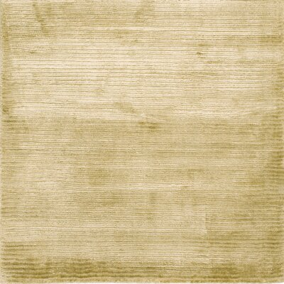 Dove Courduroy Silk Hand-Woven Light Beige Area Rug Rug Size: Rectangle 5 x 8